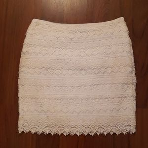 White House/Black Market white lace skirt